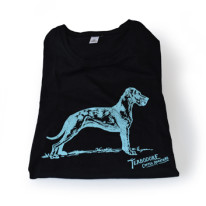 Black-Round-Neck-T-Shirt-with-Turquise-Great-Dane