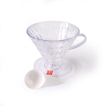 V60-Pour-Over-Coffee-Dripper---03-(1-6-Cup)---Clear-Plastic