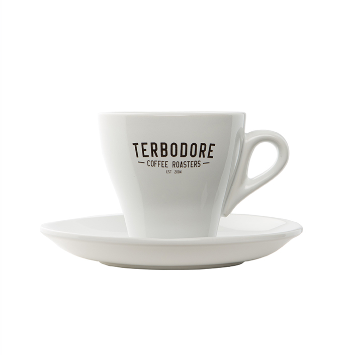 Terbodore White Coffee Cup Saucer